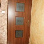 Nasze realizacje I Ozdobne matowe szyby zamontowane w drzwiach wewnętrznych
